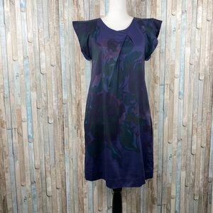 Piazza Sempione 6 Blue Floral Print Shift Dress